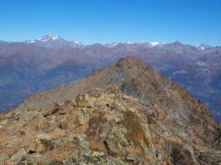 Dalla cima la P.ta Chermontane ed il Grand Combin.