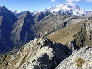 In cresta e Monte Rosa.