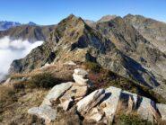 La cresta verso Nord, vista dal Monte Cavallo con il bivacco ormai distante.